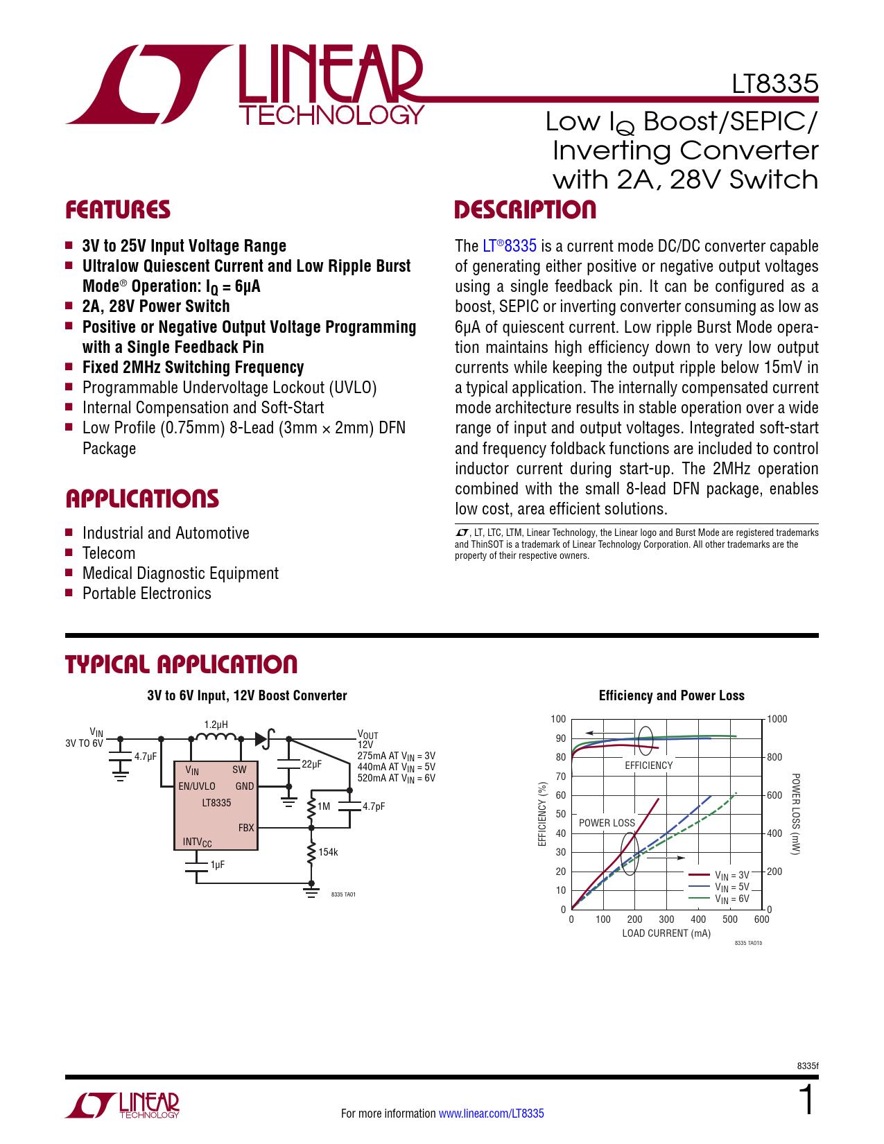 Datasheet LT8335 Analog Devices