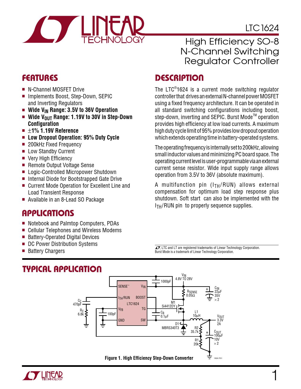 Datasheet LTC1624 Analog Devices