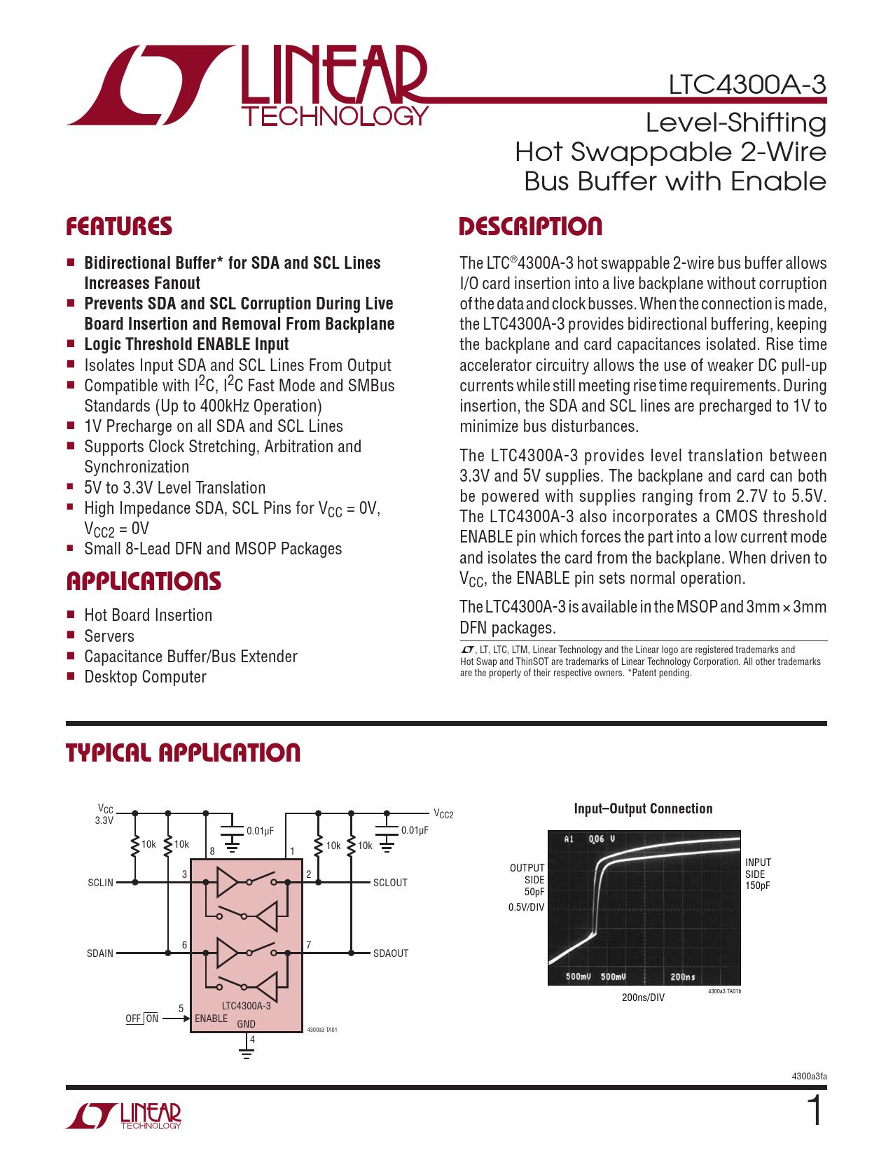 Datasheet LTC4300A-3 Analog Devices
