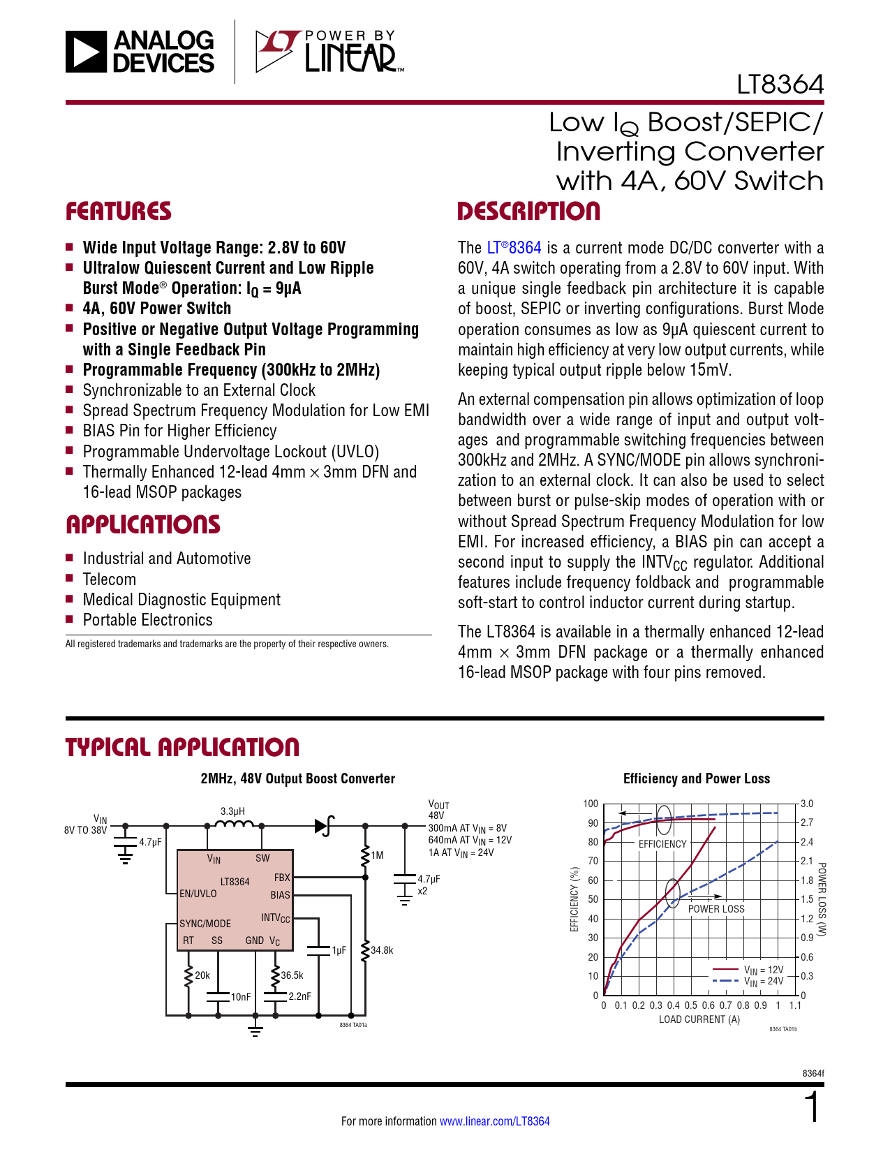 Datasheet LT8364 Analog Devices