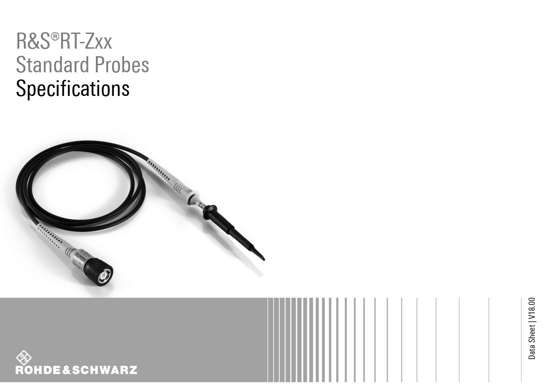 Datasheet - RT-Zxx Standard Probes Rohde&Schwarz, Версия: 18.00