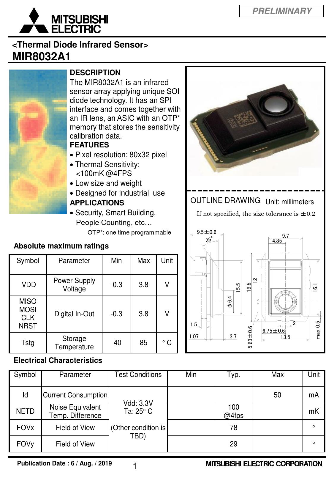Preliminary Datasheet MIR8032A1 Mitsubishi Electric