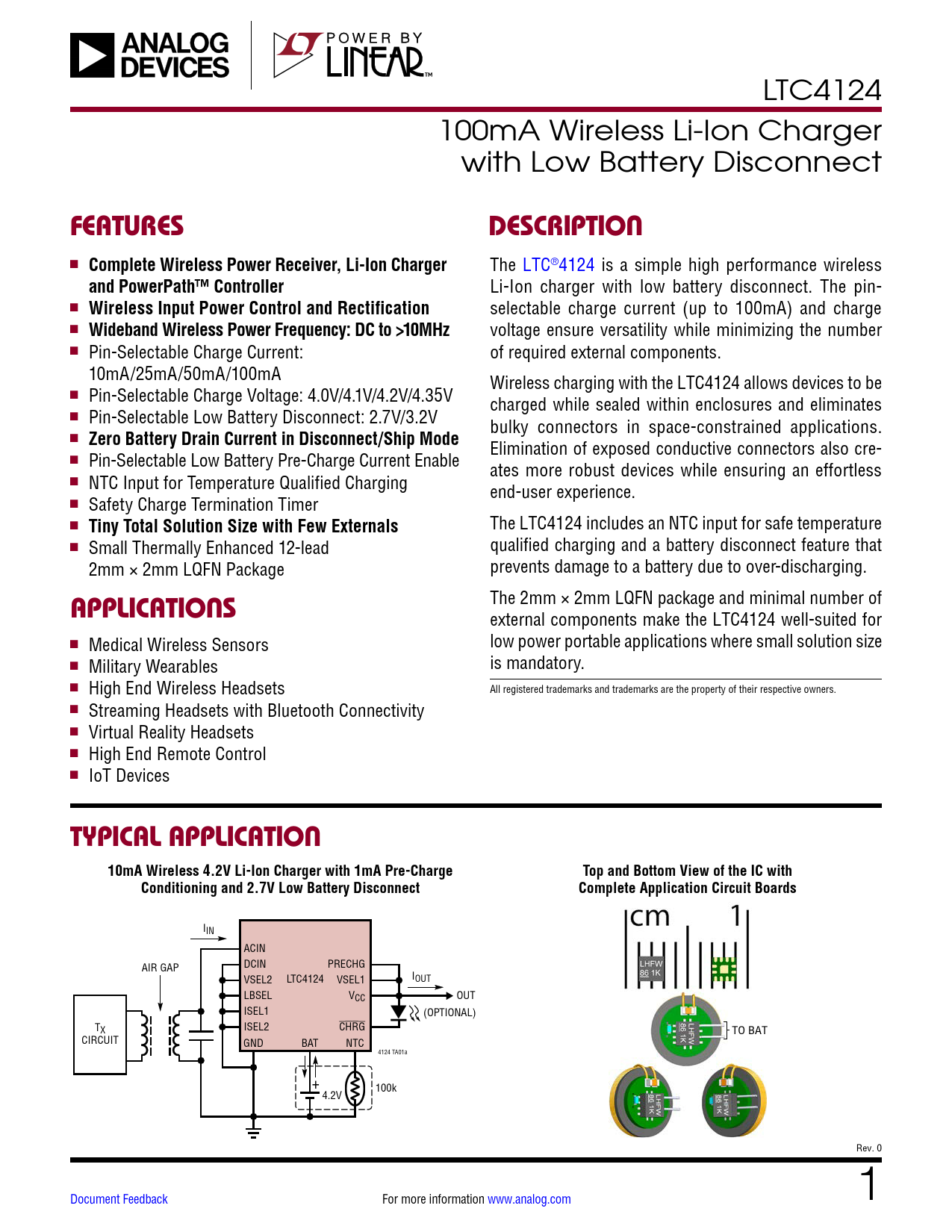 Datasheet LTC4124 Analog Devices