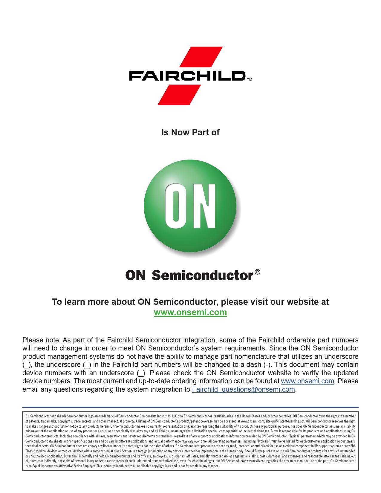 Datasheet FDS6575 ON Semiconductor, Версия: A
