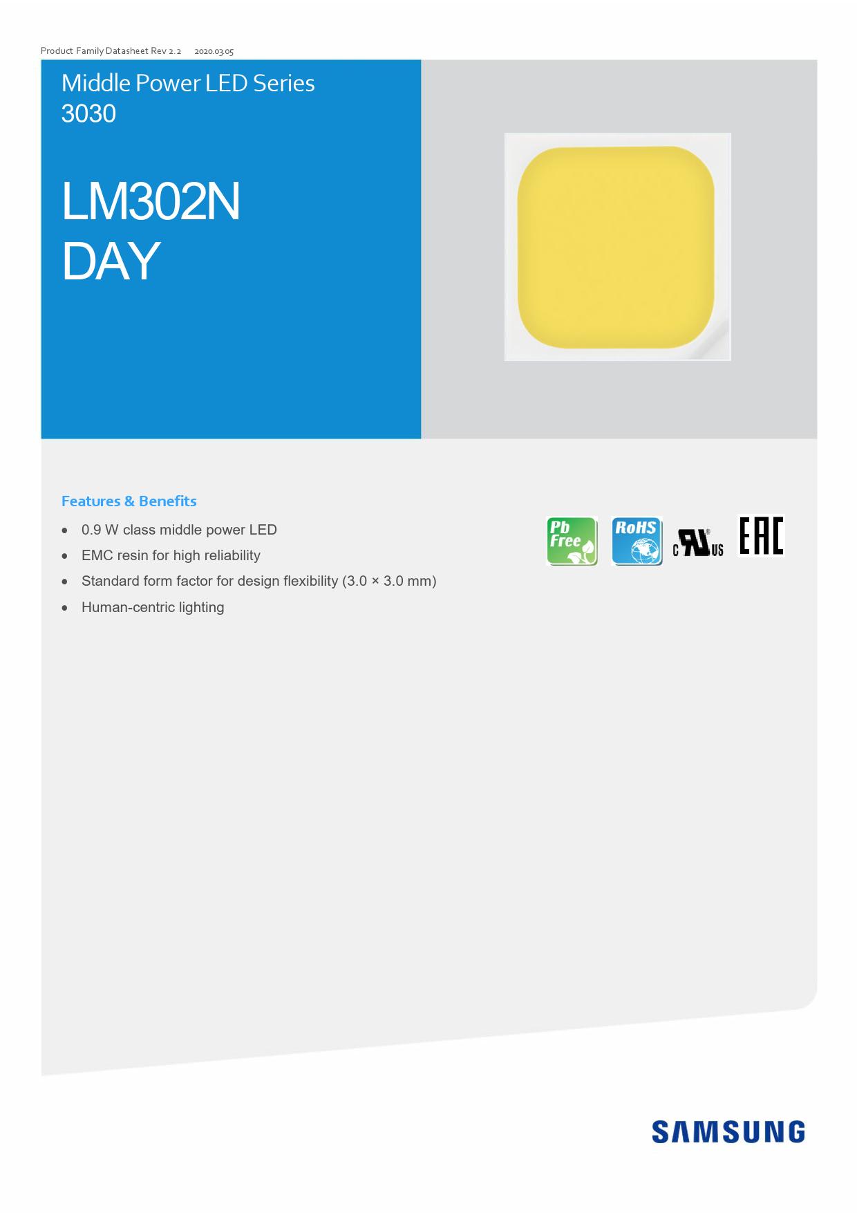 Datasheet LM302N DAY Samsung