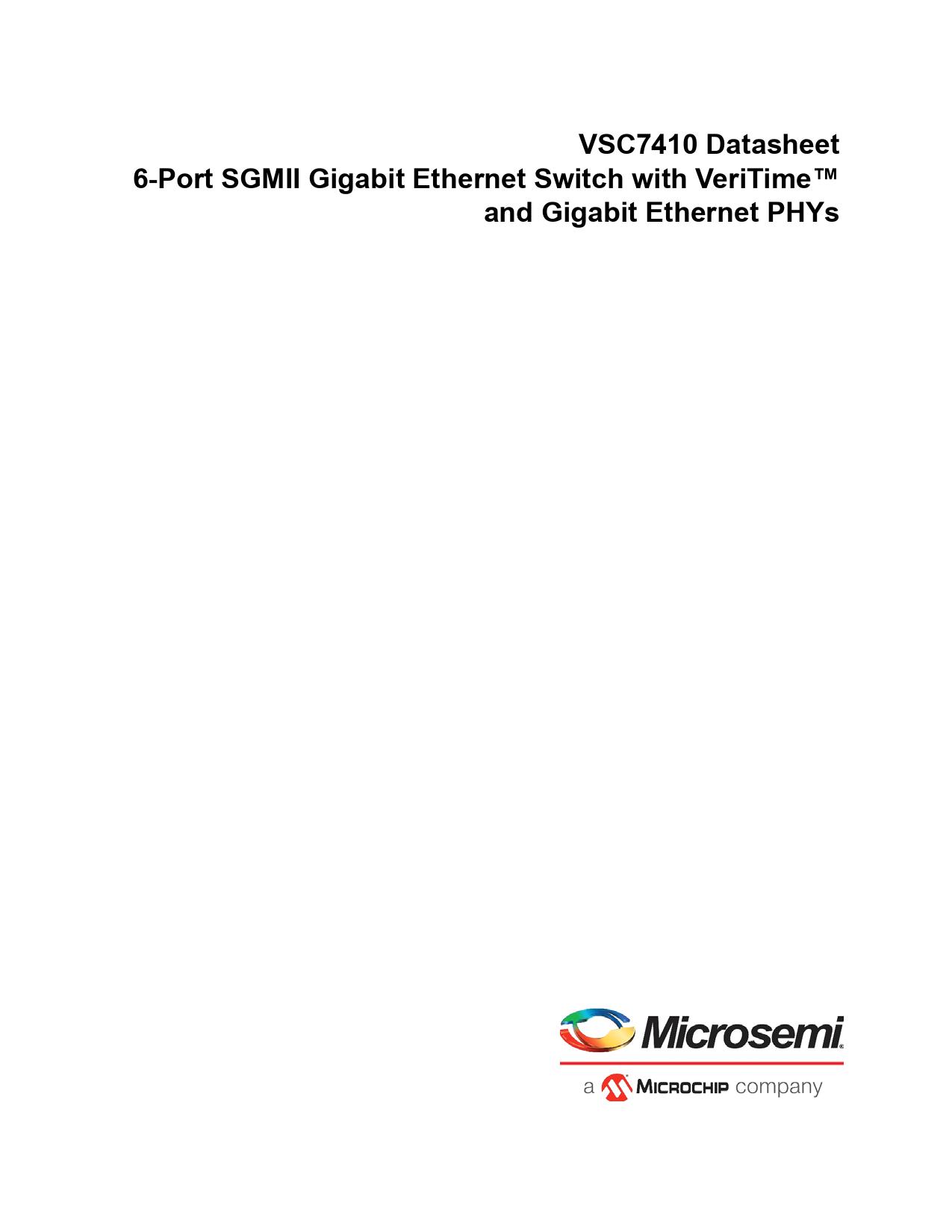 Datasheet VSC7410 Microchip
