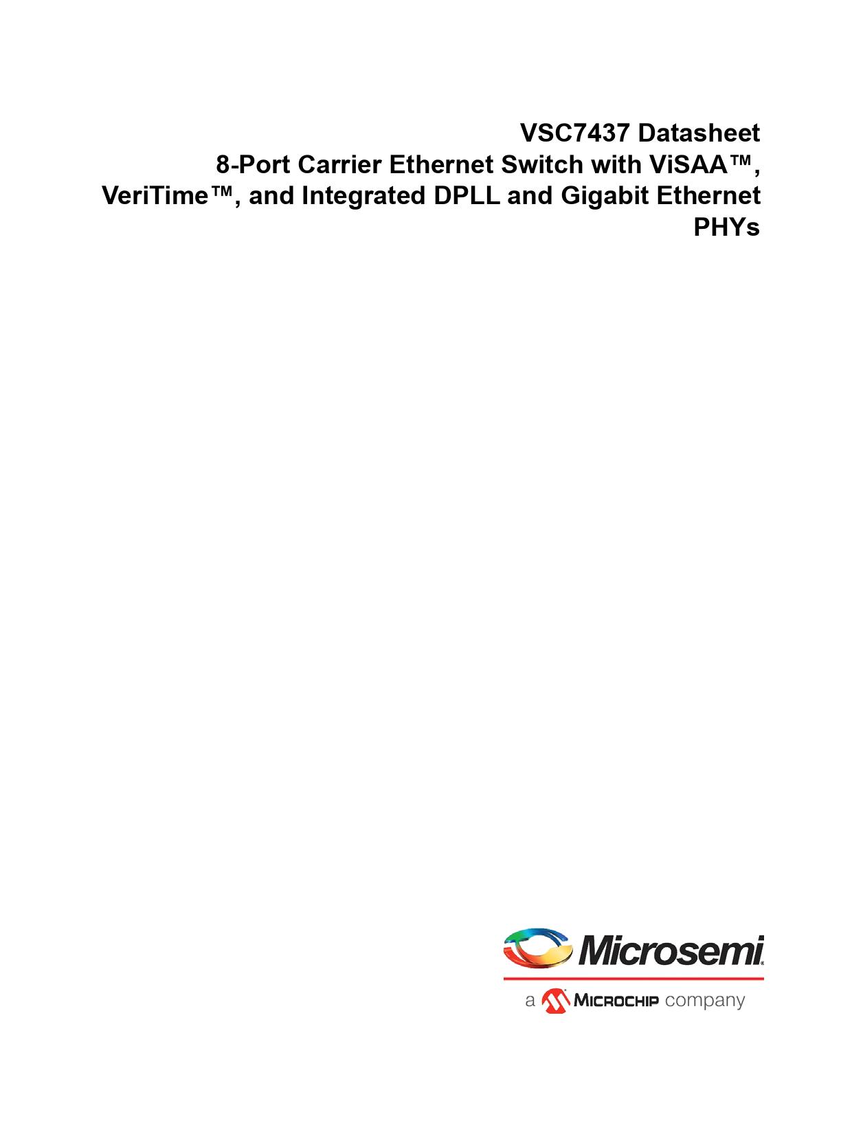 Datasheet VSC7437 Microchip
