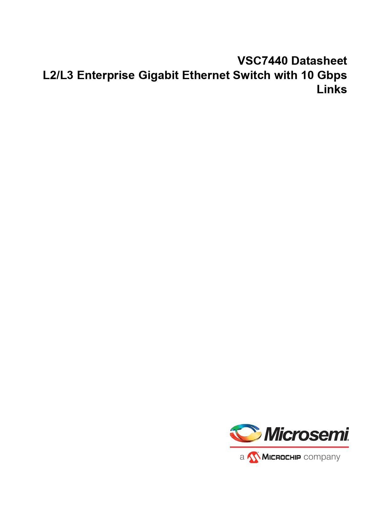 Datasheet VSC7440 Microchip
