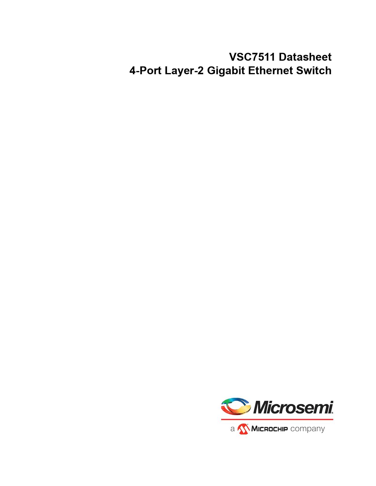 Datasheet VSC7511 Microchip
