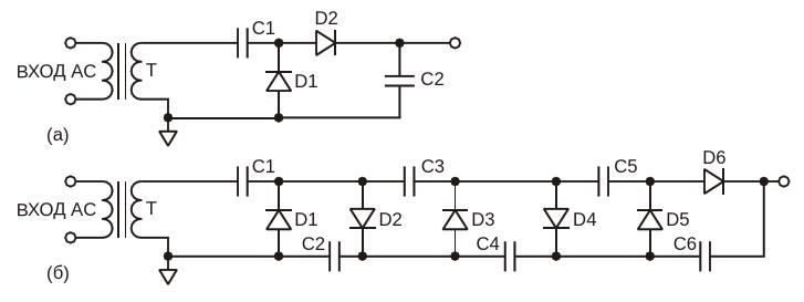 Одно- и многокаскадные умножители Грайнахера