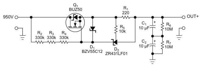 Источник тока для высоковольтной схемы