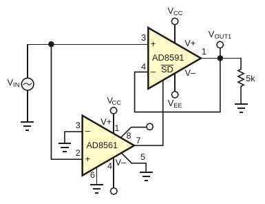 Характеристики этой схемы намного улучшены посравнению со схемой на Рисунке 1