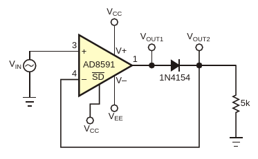 This circuit is a typical half-wave-rectifier configuration
