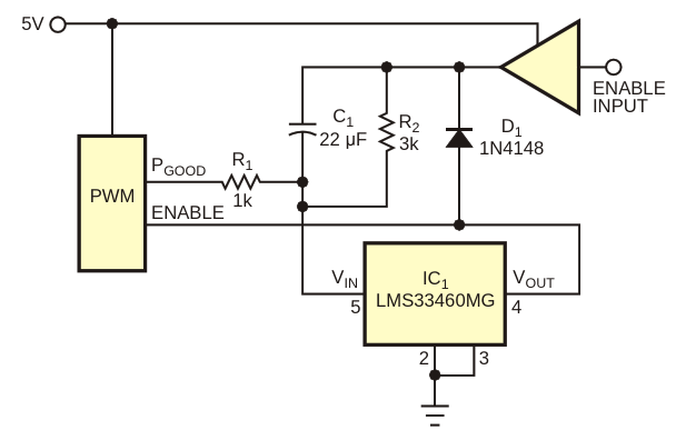 This circuit adds a latch-off function to PWM controllers lacking this feature