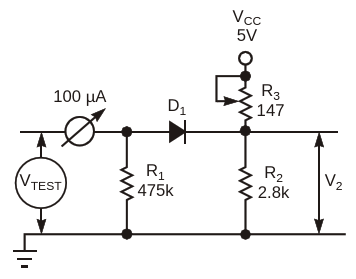 This simple circuit expands the acceptable testresults to 90% of full-scale