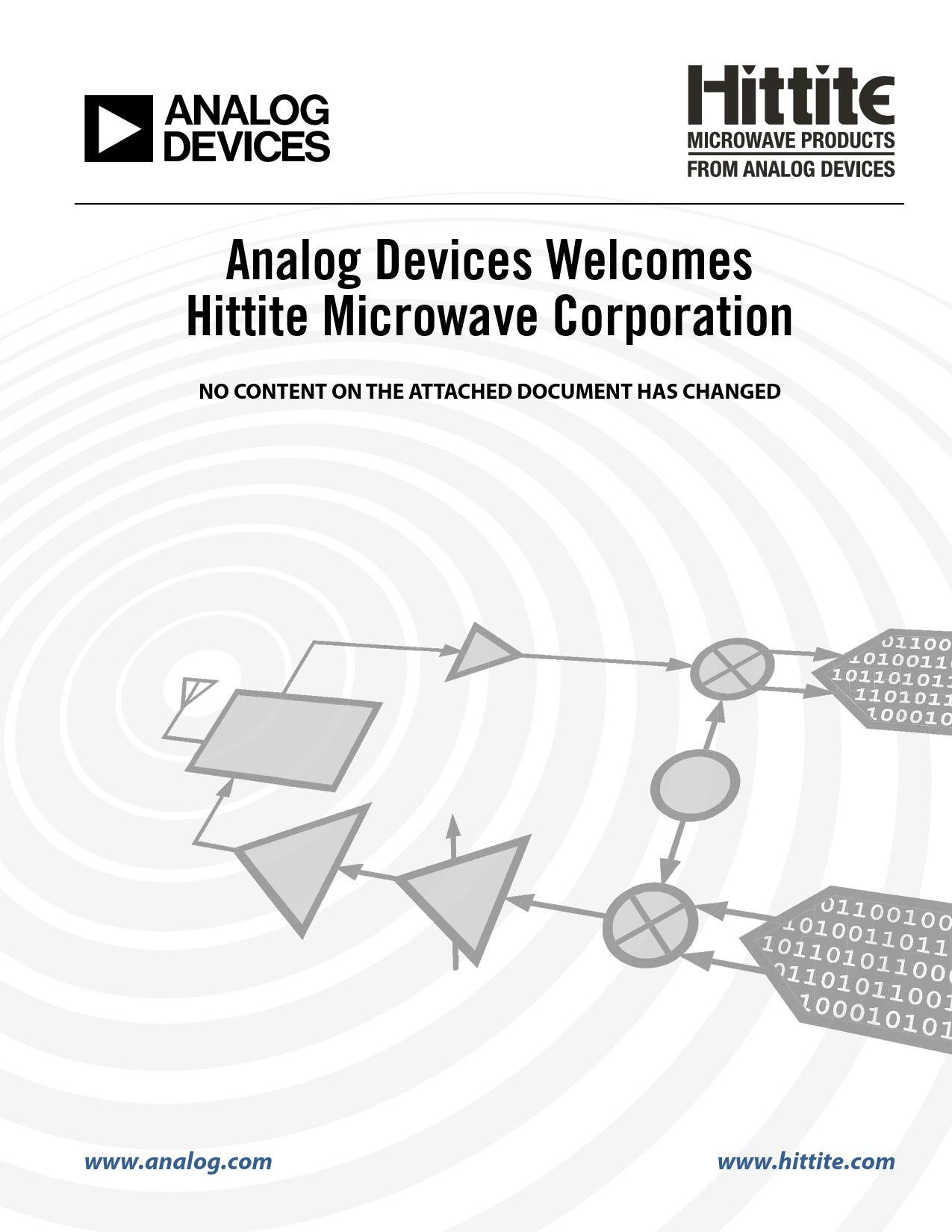 Datasheet HMC980LP4E Analog Devices