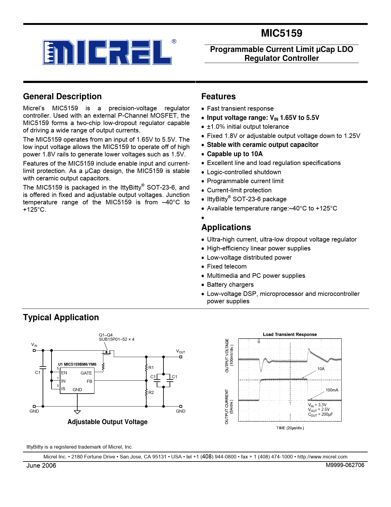 Datasheet MIC5159 Microchip