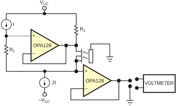 A constant-current driver provides the basis for achemical-concentration test system