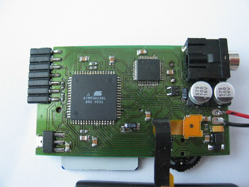 Bottom layer with LCD connected