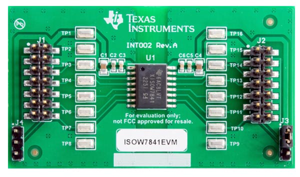 ISOW7841EVM ISOW7841 High Speed, Robust EMC Quad-Channel Digital Isolator With Integrated Power Evaluation Module