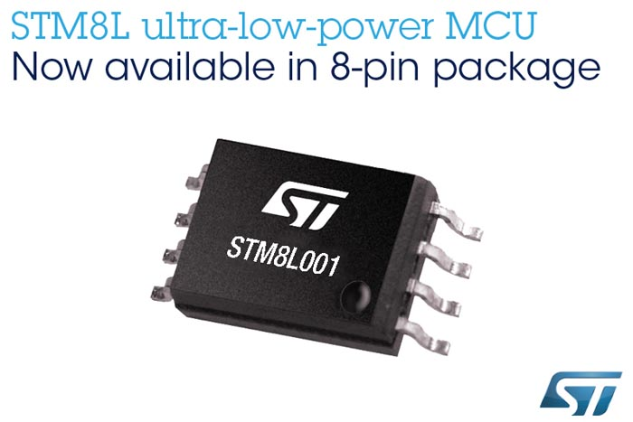 STMicroelectronics Compact STM8L001 Microcontroller Covers Essentials