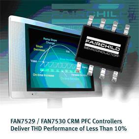 контроллеры с функциями режима критической проводимости (CRM) и коррекции мощности (PFC)
