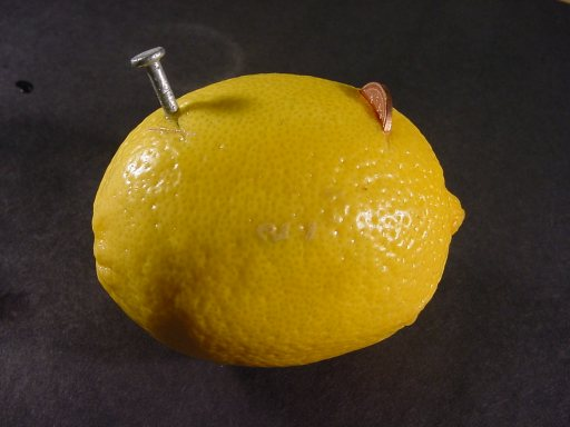 Элемент питания из лимона