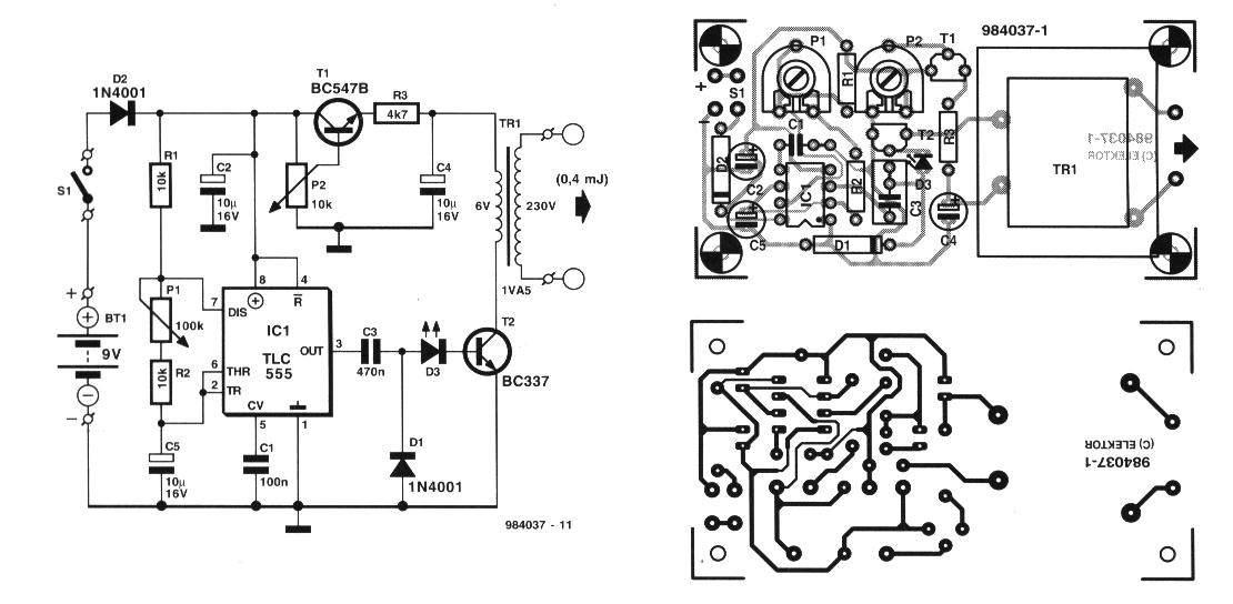 Схемы миостимуляторов