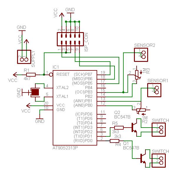 схема на микроконтроллере - Схемы.
