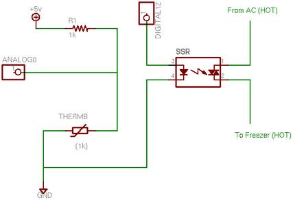 Arduino Beer Thermostat Schematics