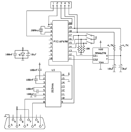 Schematics Accelerometer Based Mouse