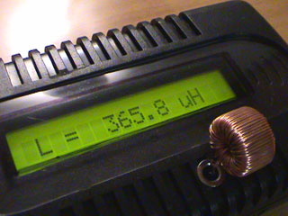 LC Meter inductance measurements