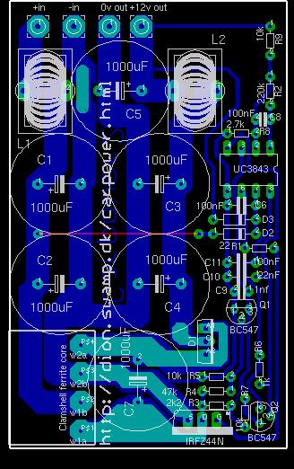 The PCB for v2