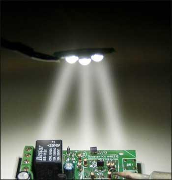 Внешний вид светильника на мощных светодиодных лампах BM6120