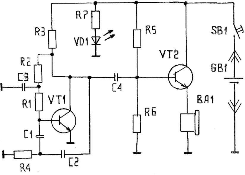 Электрическая схема ПДУ.