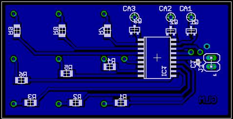 PCB led cube