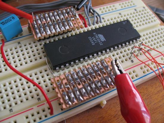 resistor ladder on breadboard