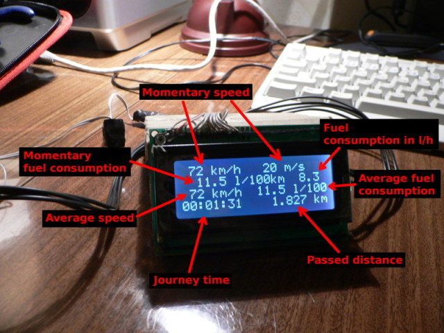 AVR based car computer
