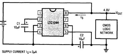 LTC1044, генератор отрицательного напряжения
