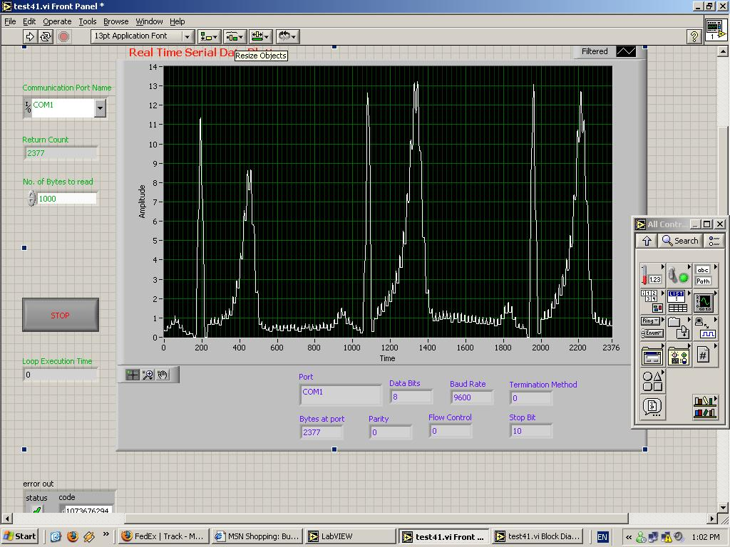 ECG Results in LABView