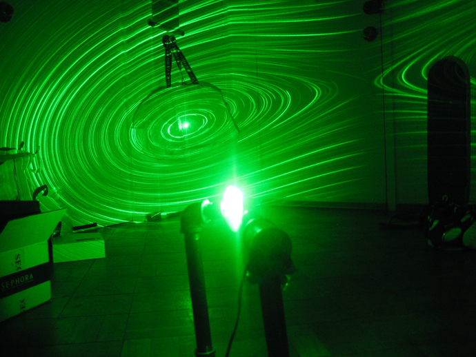 DIY Simple Green Laser Projector