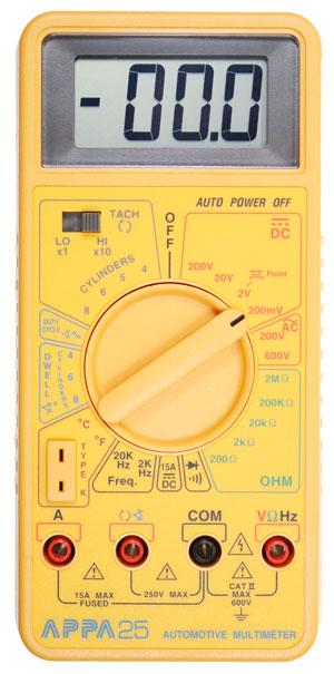 Мультиметр APPA 25, автомобильный тестер