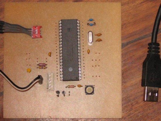 The 18F4550 experimentation board
