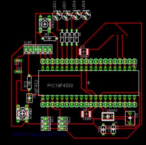 PCB 18F4550 experimentation board