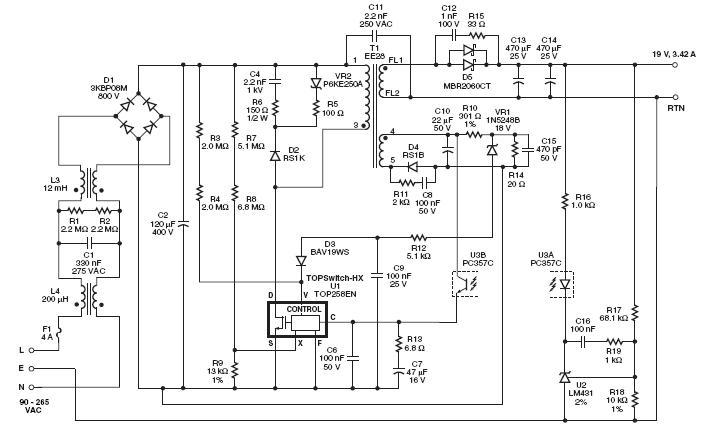 Схема AC-DC пеобразователя