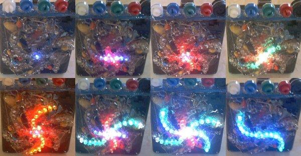 Цветомузыка (Дискретный цветовой орган из светодиодов) .