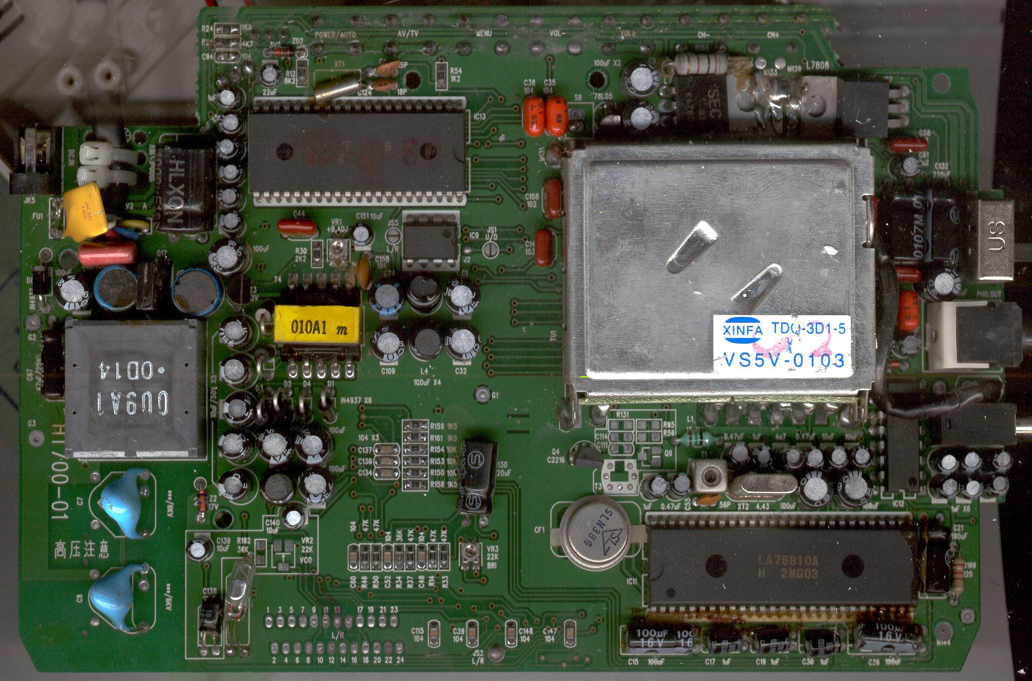 Схема принципиальная телевизора funai tv 2500 MK8.  Сотни гигабайт электрических схем, сервисных мануалов, прошивок...