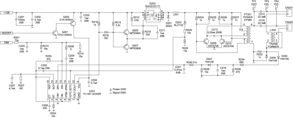 Рис. 4. Принципиальная схема инвертора DIVTL0144-D21.  В качестве контроллера и ШИМ используется микросхема...