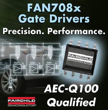 Компания Fairchild Semiconductor представила новые MOSFET/IGBT-драйверы FAN708x .