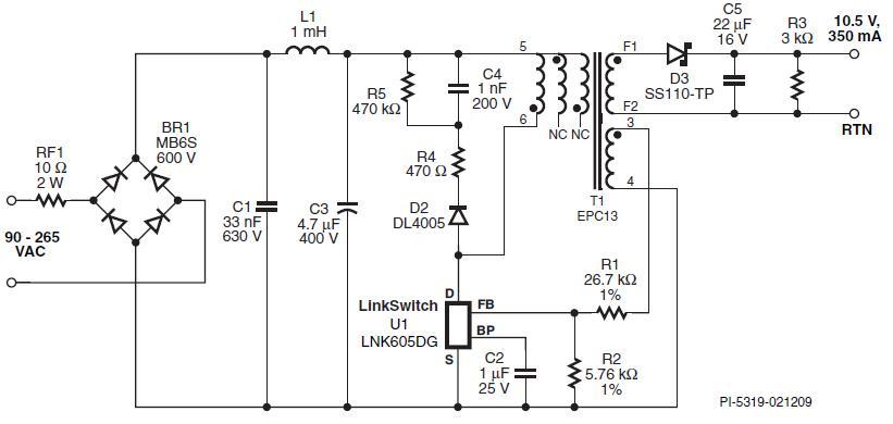 Светодиодный драйвер 3,67 Вт
